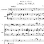 Črt Sojar Voglar - Pesmi za moj čelo, vzorec klavirskega parta